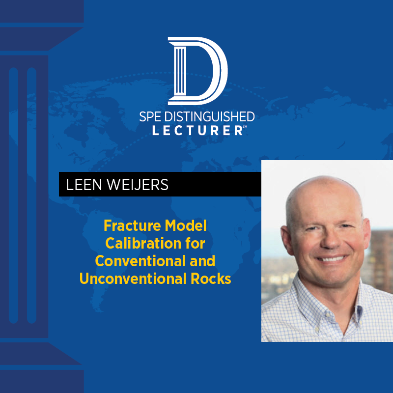 SPE Distinguished Lecturer– Leen Weijers